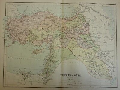 Map of Turkey in Asia. (Nr. 22) from Philips' Comprehensive Atlas 1852. By W. Hu