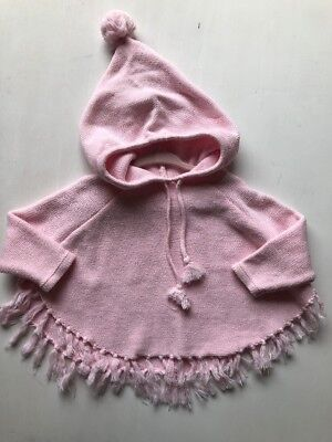 Gorgeous Seed Baby Pink Girls Poncho Size M/L Approx12-18 Months