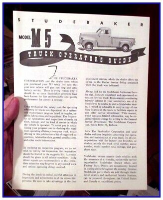 1941-48 Studebaker M5  pickup 8 page owners manual