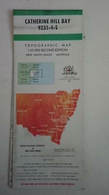 Topographic Map 1:25,000 Series Catherine Hill Bay 9231-4-S 2ND Edition 1985 NSW