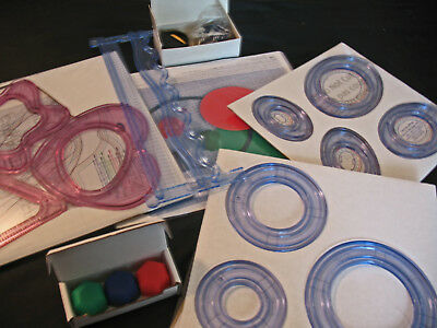 Creative Memories Custom Cutting System - Ovals Circle Celestial, 3 Blades, Mat