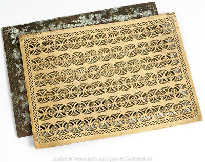 Antique Brass DOOR VENTS PANELS Middle Eastern / Moroccan / Turkish Islamic Rare