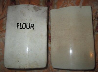Rare! 1930's Calyx Pottery Wa! Pre Wembley Ware Large Flour Ceramic Containers