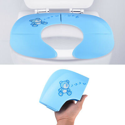 Non Slip Silicone Baby Toddlers Toilette Formation Folding Potty Siège Pad BB018