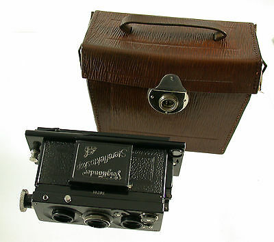 VOIGTLÄNDER Stereflektoskop Stereo Heliar 65 65mm 45x107mm 1923 top condition