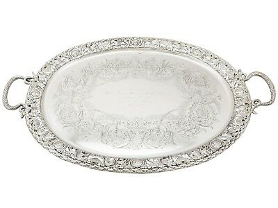 Antique Victorian Sterling Silver Tea Tray by Mappin & Webb Ltd 1894