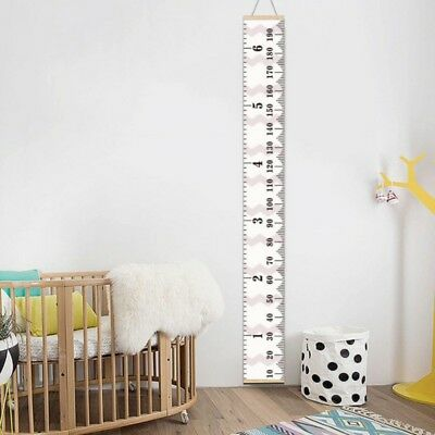 Kids Growth Recording Chart Wall Hanging Height Measure Ruler Home