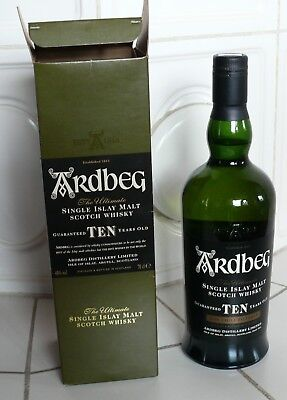 WHISKY ARDBERG SINGLE ISLAY MALT SCOTCH WHISKY– 10 YEARS OLD 70 cl. 46°(N2483)