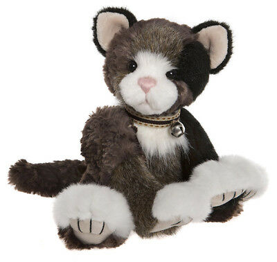 Jennyfur collectable plush jointed cat teddy bear by Charlie Bears - CB185158