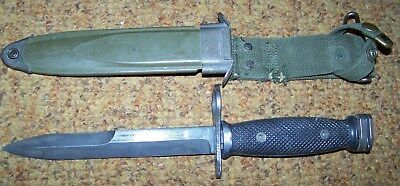 M7 Fighting Knife & Scabbard, U.s. Issue *nice*