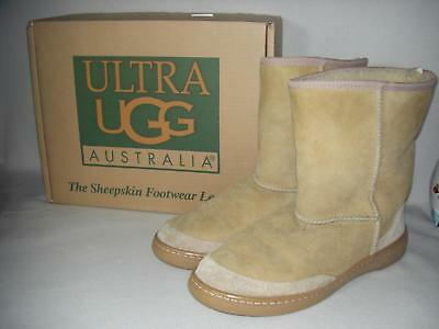 purchase cheap eea38 117b4 UGGS UGG AUSTRALIA Ultra Short Men's Boots Sz 11 Suede Wool Fleece Sand  Color