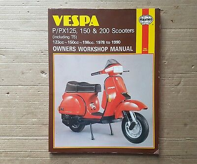 VESPA P/PX125 150 & 200 Inc T5 SCOOTERS HAYNES MANUAL 1978 to 1990