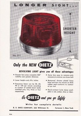 Dietz Model 211 Revolving Light   1959  Ad                 7173
