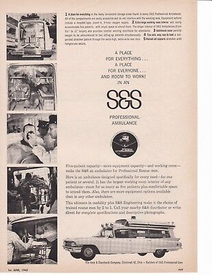 S & S Ambulances Have Room For Everything 1962 Ad 7181