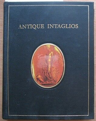Russian Book Antique Cameo Art Old Miniature Portrait Stone Vintage Intaglios VT