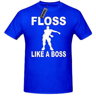 Floss Like A Boss t shirt,Children's Gaming dance t shirt in Blue