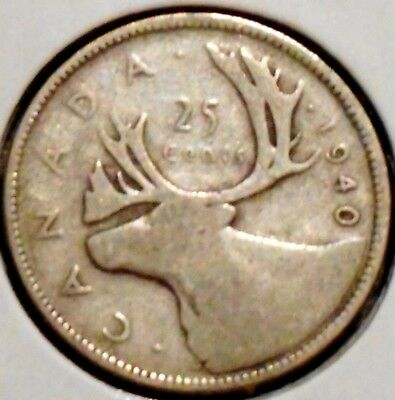 Canada Quarter - 1940 - King George VI - $1 Unlimited Shipping