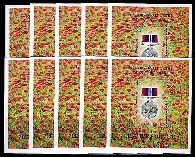 10 x Samoa 1995 Block 53 ** MNH Jahrestag Ende II. WK End of II. World War