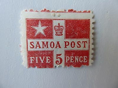 Samoa 1895 5d dull red m/mint
