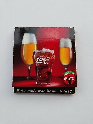Coca Cola Match Book Cover with Wooden Matches NEW from Germany