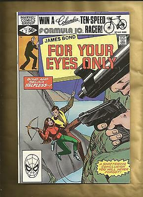 James Bond for your eyes only #2 vfn 1981 Marvel Comics US Comics