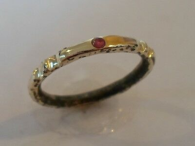 OFFER ENDS..DETECTOR FIND 13-15th CENTURY MEDIEVAL WEDDING RING WITH REAL RUBY