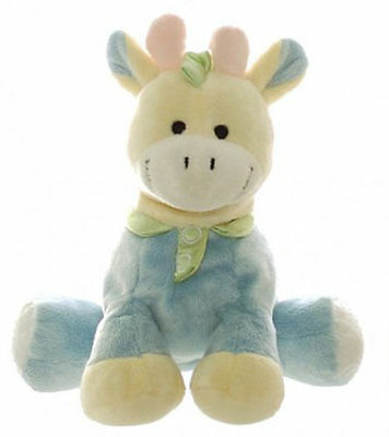 Teddy & Friends Baby Blue Giraffe 'Jerry'  Pastel Stuffed Toy with Rattle   New