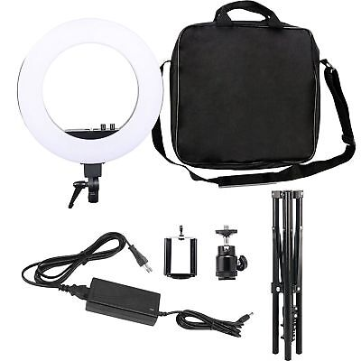 "18"" LED Dimmable Ring Light 5500K Studio Lighting Kit w/ Tripod Stand Ball Head"