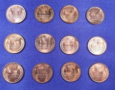 1953 PDS - 1958 PD Lincoln Cent Penny Set BU Free Shipping