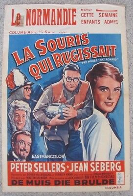 MOUSE THAT ROARED Peter Sellers Attacks US With Bomb BELGIAN MOVIE POSTER