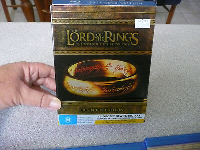 Lord Of The Rings (Blu-ray, 2011, 15-Disc Set) Region B/Aus -Please Read Listing