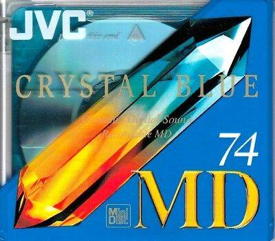 Jvc Crystal Blue 74 Md Recordable Blank Minidisc - Sealed