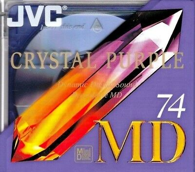 Jvc Crystal Purple 74 Md Recordable Blank Minidisc - Sealed