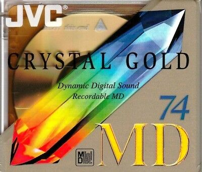 Jvc Crystal Gold 74 Md Recordable Blank Minidisc - Sealed
