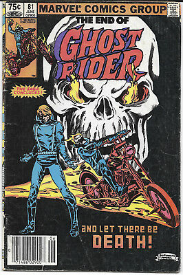 1983 The End Of Ghost Rider #81 VG+ Marvel Comics FREE BAG/BOARD