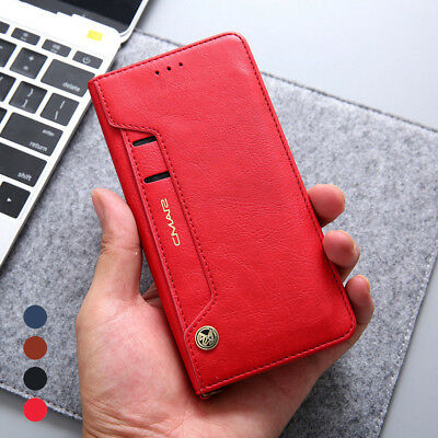 Luxury Flip Leather Wallet Card Slots Soft Case Cover For Huawei P20 Pro / Lite