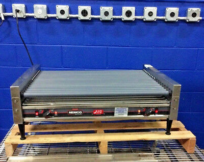 Nemco 8075Sxw-Rc 75 Commercial Hot Dog Roller Grill Taquitos Corn Dogs 120V