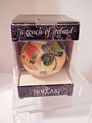 Nollaig, Blarney Glass Collectible Ornament, NIB, Sealed, Made in Ireland