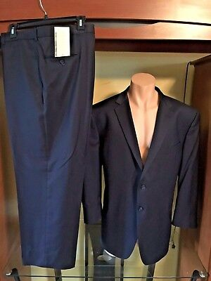 Joseph Abboud Navy 100% Wool 2 Piece Suit New w/o Tags 50R