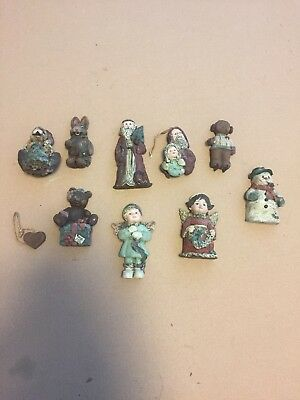 RARE VINTAGE Lot of 9 Sarah's Attic Limited Edition Holiday figures 1990