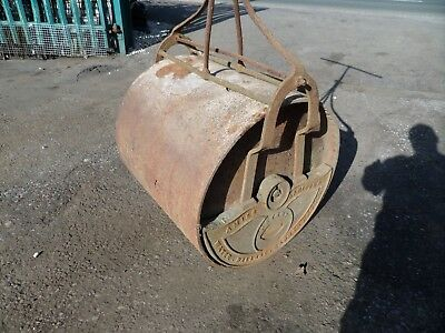 Antique Large Water Ballast Garden Roller Amies Barford & Co Cast Wrought Iron