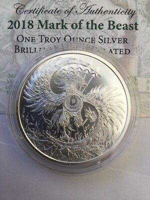 2018 1 oz Silver Shield Round - MiniMintage (Mark of the Beast)