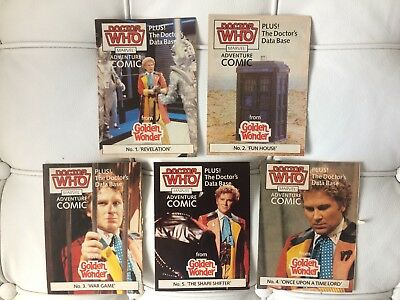 Doctor Who - Rare - Sixth Doctor Comics - Golden Wonder promotion - 1986 - DWM