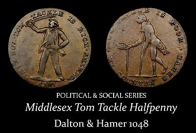 Middlesex Tom Tackle Conder Halfpenny D&H 1048, cool!