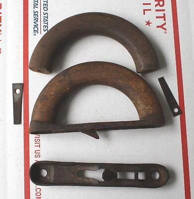 Early Wood And Cast Iron Sad Iron Handle Parts Griswold Enterprise