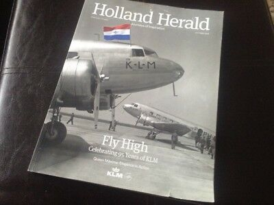 Airline Inflight Magazine - KLM  Oct 2014  Dutch Caribbean Delft 95 years of KLM