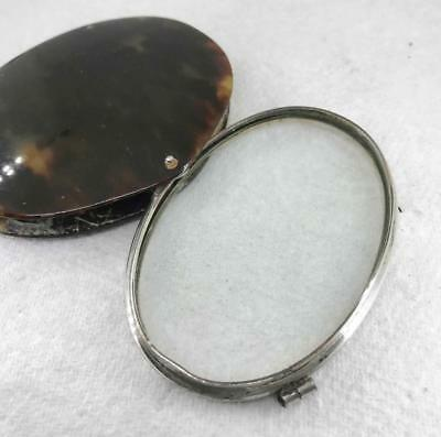 lovely Large Antique 19th Century Tortoiseshell Magnifying Glass Silver