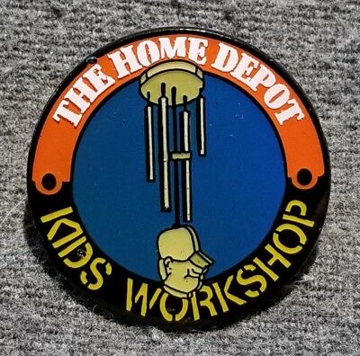LMH PINBACK Pin HOME DEPOT Kids Workshop WIND CHIME Windchime Chimes Apron 1""