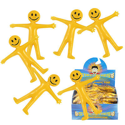 Stretch Bendy Smile Man Birthday Party Loot Bag Children Toy Stocking Filler