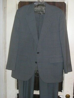 USA Made Mens Plaid Suit by Brassard 42R